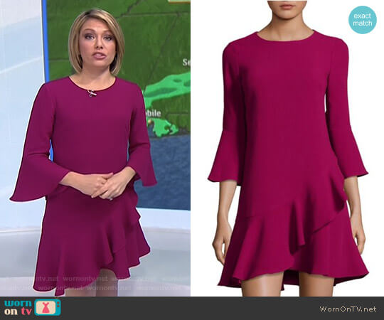 Ruffled Bell-Sleeve A-Line Dress by Eliza J worn by Dylan Dreyer on Today