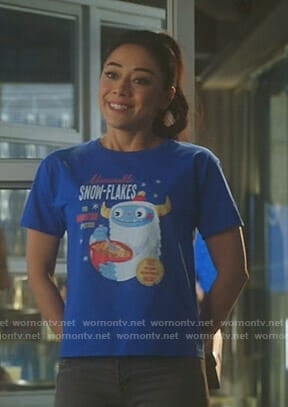 Ella's blue abominable snowflakes t-shirt on Lucifer