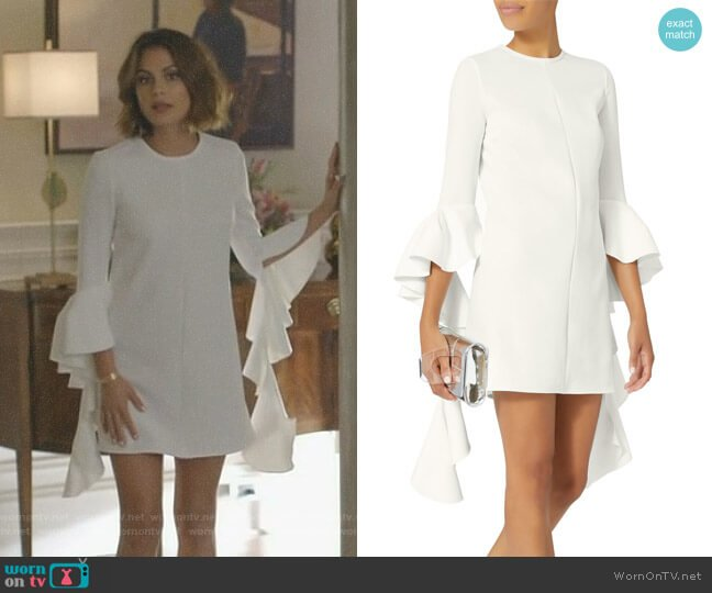 'Kilkenny' Mini Dress by Ellery worn by Nathalie Kelley on Dynasty