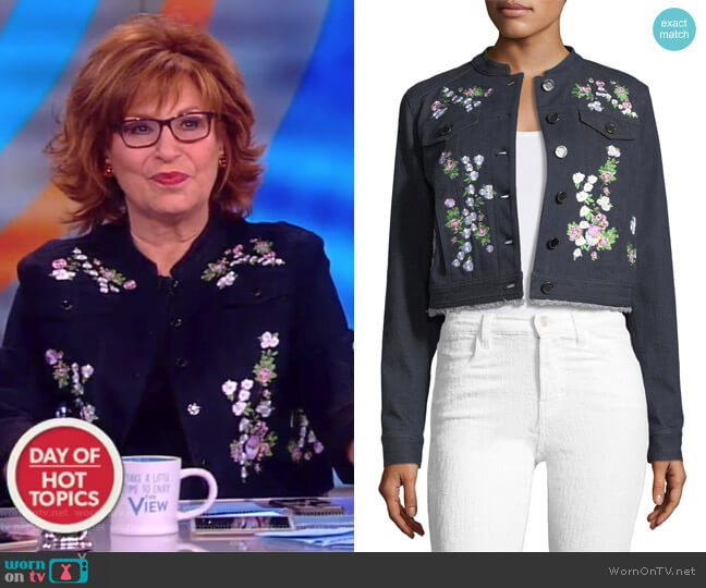 Meggy Embroidered Denim Jacket by Elie Tahari worn by Joy Behar on The View