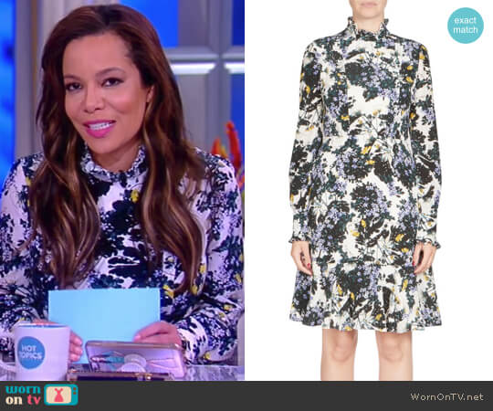 Bernette Floral-Print Dress by Erdem worn by Sunny Hostin  on The View