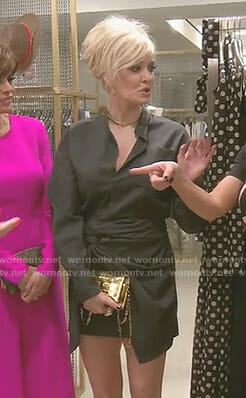 Erika's black shirtdress on The Real Housewives of Beverly Hills