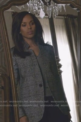 Olivia's grey jacket and black boots on Scandal