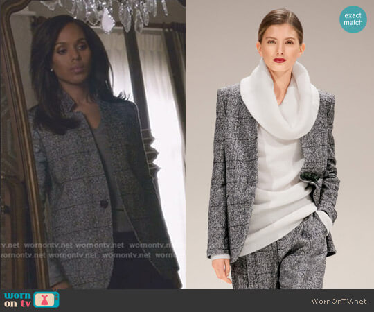 Jacket: by Escada - Fall 2017 Collection worn by Olivia Pope (Kerry Washington) on Scandal