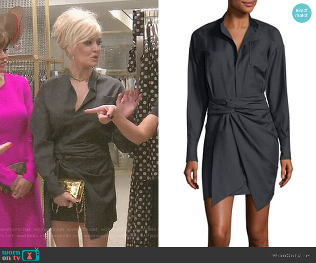 'Nolla' Wrap-Front Shirtdress by Isabel Marant Étoile worn by Erika Girardi on The Real Housewives of Beverly Hills