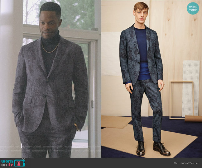by Etro - 2017 AW Collection worn by Jeff Colby (Sam Adegoke) on Dynasty