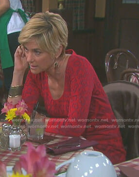 Eve's red leopard print dress on Days of our Lives