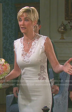 Eve's white lace trimmed dress on Days of our Lives