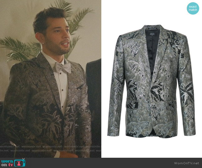 Jones Brocade Jacket by Garcons Infideles  worn by Rafael de la Fuente on Dynasty