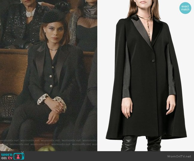 Cape Detail Blazer by Givenchy worn by Nathalie Kelley on Dynasty