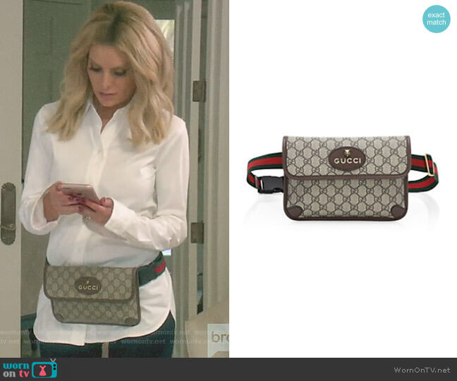 Neo Vintage Canvas Belt Bag by Gucci worn by Dorit Kemsley on The Real Housewives of Beverly Hills
