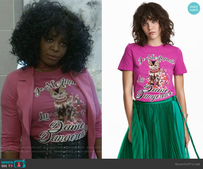 La Dame Dangereuse t-shirt by H&M worn by Ta'Rhonda Jones on Empire