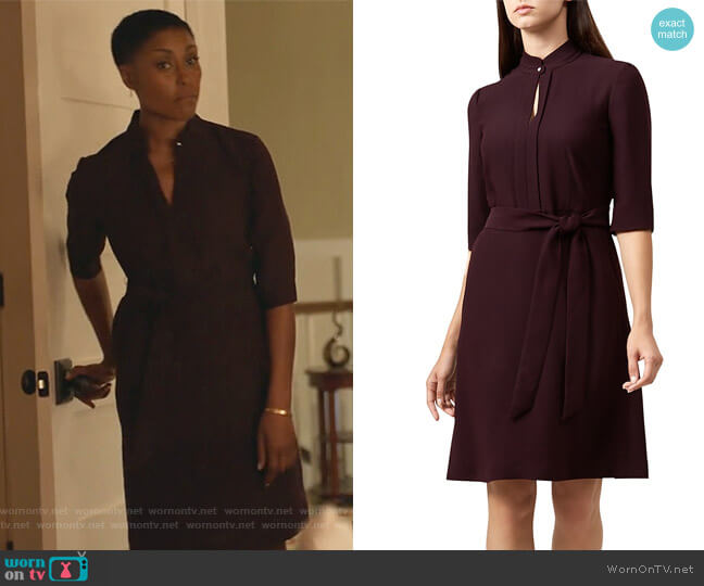 Lois Keyhole Belted Dress by Hobbs London worn by Christine Adams on Black Lightning