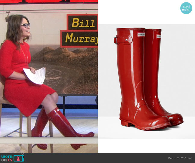 Original Tall Gloss Rain Boots by Hunter worn by Savannah Guthrie on Today