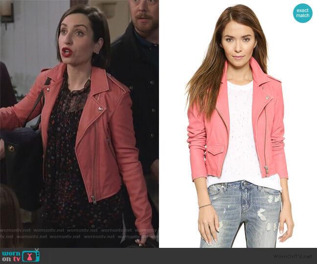 IRO Ashville Jacket worn by Jennifer Short (Zoe Lister-Jones) on Life in Pieces