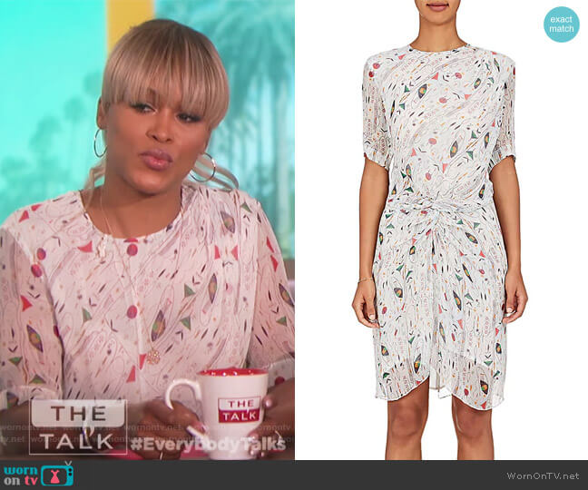 Barden Silk Minidress by Isabel Marant Etoile worn by Eve on The Talk