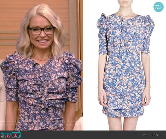 'Brizia' Dress by Isabel Marant worn by Kelly Ripa on Live with Kelly & Ryan