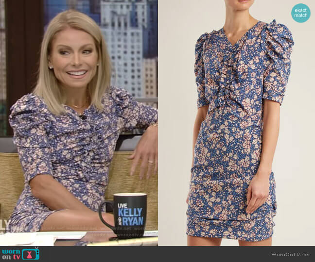 'Brizia' Dress by Isabel Marant worn by Kelly Ripa on Live with Kelly & Ryan