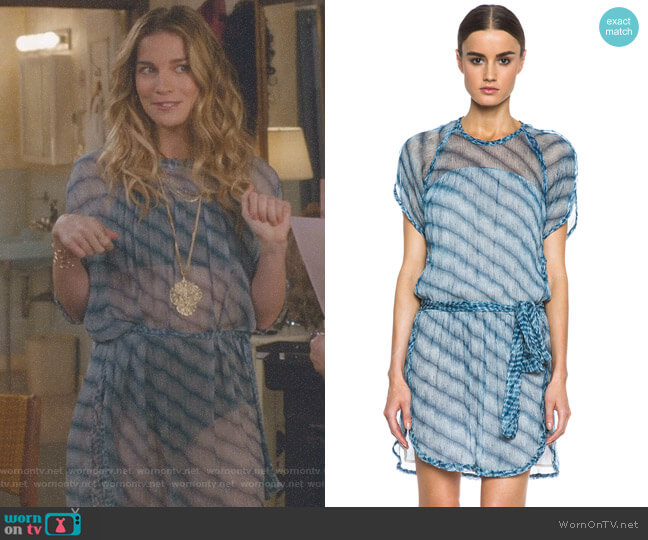 'Zaggy' Silk Dress by Isabel Marant Etoile worn by Annie Murphy on Schitts Creek