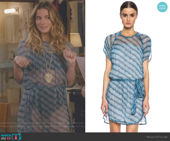 'Zaggy' Silk Dress by Isabel Marant Etoile worn by Alexis Rose (Annie Murphy) on Schitts Creek