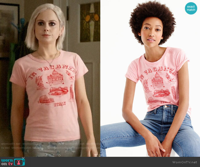 J. Crew 'In vacanza' Graphic T-shirt worn by Liv Moore (Rose McIver) on iZombie