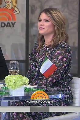 Jenna's black floral midi dress on Today