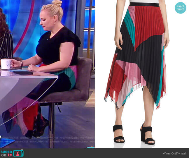 WornOnTV: Meghan's Multi-colored Pleated Skirt On The View