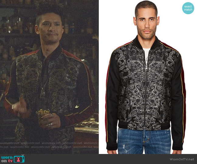 Bomber Jacket by Just Cavalli worn by Magnus Bane (Harry Shum Jr.) on Shadowhunters