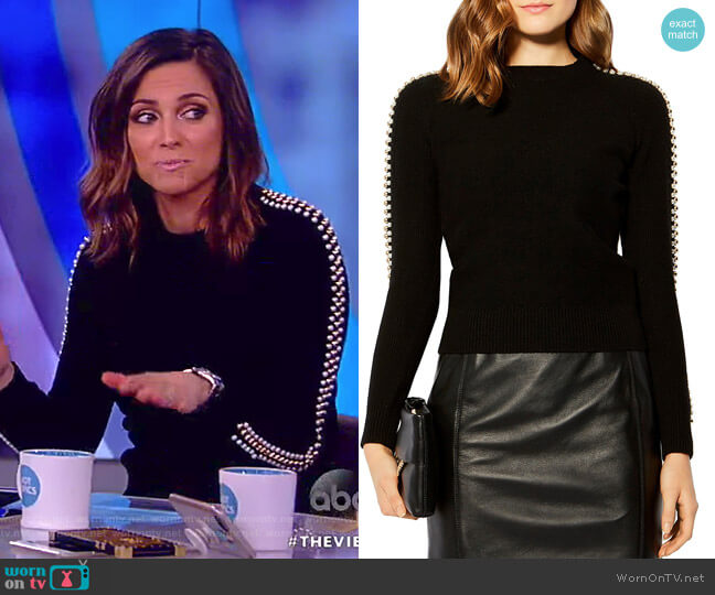 Embellished Sweater by Karen Millen worn by Paula Faris  on The View