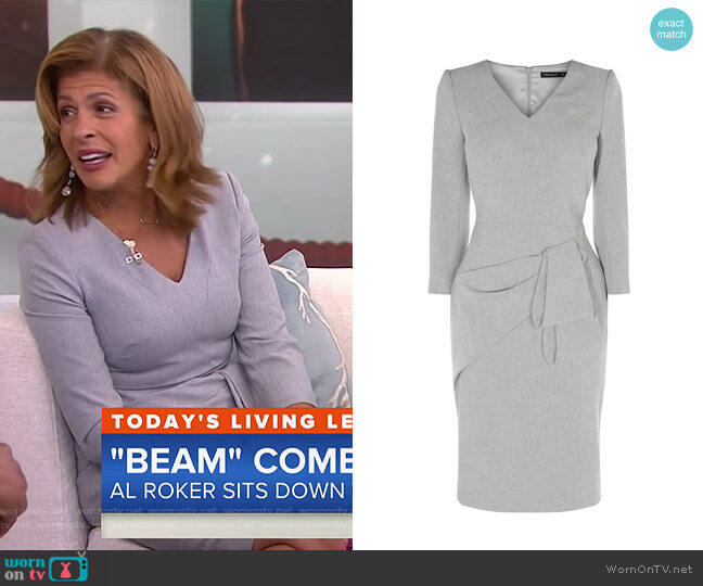Folded Pencil Dress by Karen Millen worn by Hoda Kotb on Today