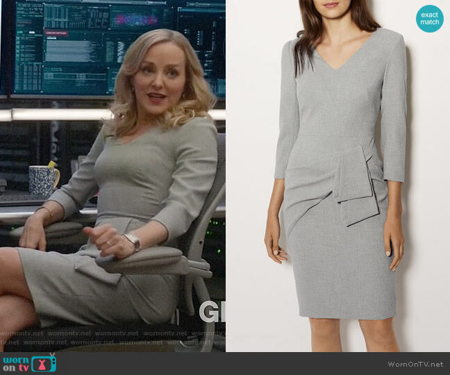 Karen Millen Folded Pencil Dress worn by Marissa Morgan (Geneva Carr) on Bull
