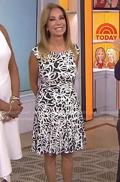 Kathie's black and white floral dress on Today