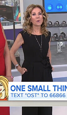 Kathie's black tie waist jumpsuit on Today