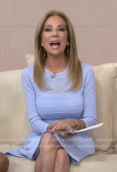 Kathie's blue pointelle dress on Today
