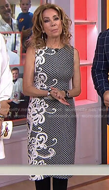 Kathie's side embroidered sheath dress on Today