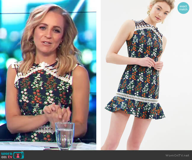 Faithful Dress by Keepsake worn by Carrie Bickmore  on The Project