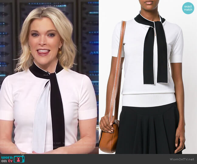 Contrast Bow Jumper by Lanvin worn by Megyn Kelly (Megyn Kelly) on Today