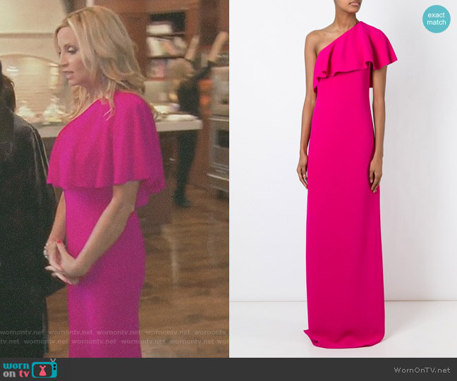 One Shoulder Dress by Lanvin worn by Camille Grammer on The Real Housewives of Beverly Hills