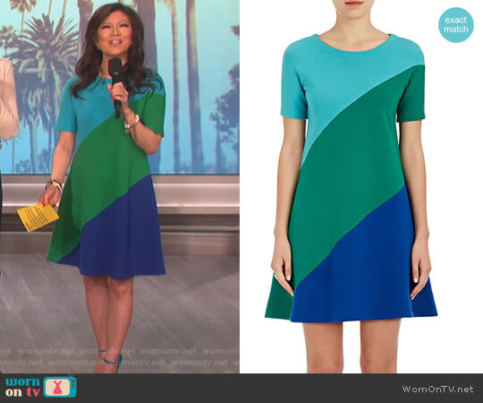 Swirl Wool A-Line Dress by Lisa Perry worn by Julie Chen on The Talk