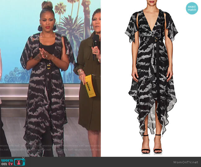Tigress Wrap Dress by Manning Cartell worn by Eve  on The Talk