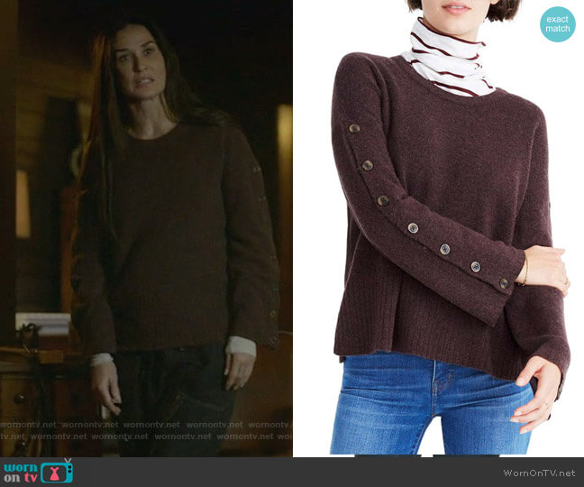 Button Sleeve Pullover Sweater by Madewell worn by Claudia Fletcher (Demi Moore) on Empire