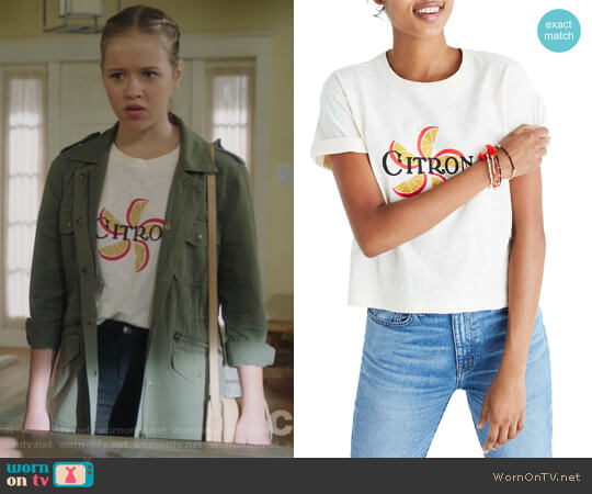 Citron Graphic Tee by Madewell worn by Samantha Hughes (Holly Barrett) on Life in Pieces