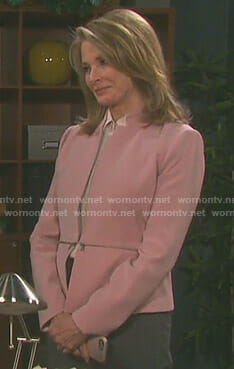 Marlena's pink peplum jacket on Day of our Lives