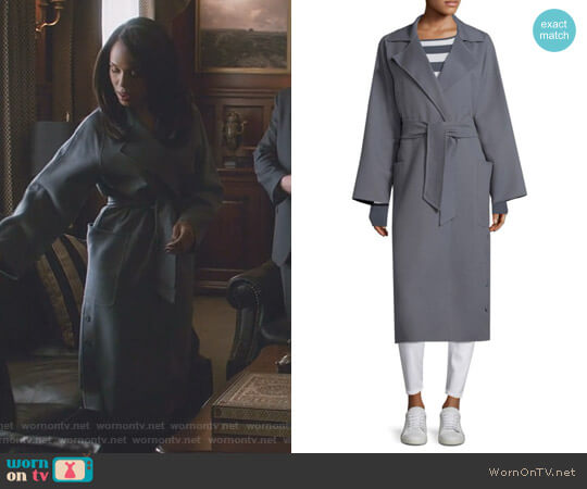 Alacre Notch Lapel Coat by Max Mara worn by Kerry Washington on Scandal