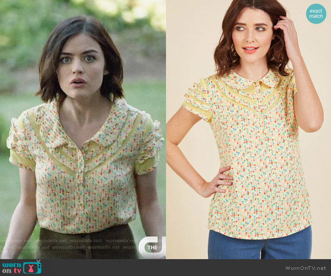 ModCloth Cater to Your Quirk Top worn by Lucy Hale on Life Sentence