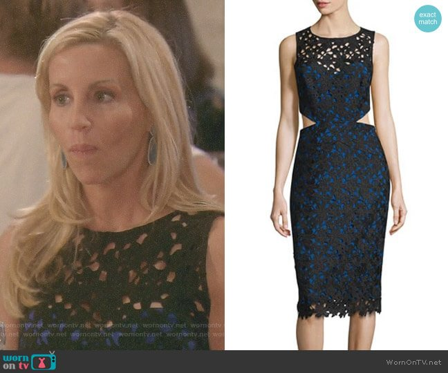 'Venice' Dress by Nicole Miller worn by Camille Grammer on The Real Housewives of Beverly Hills