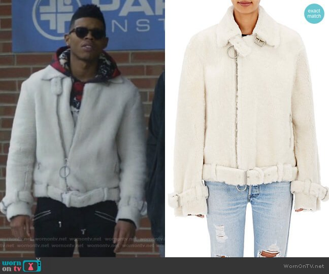 Lamb Shearling Jacket by Off White c/o Virgil Abloh worn by Hakeem Lyon (Bryshere Y. Gray) on Empire