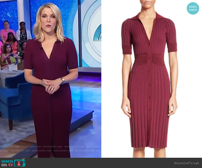 Olivia Knit Shirtdress by Altuzarra worn by Megyn Kelly  on Today