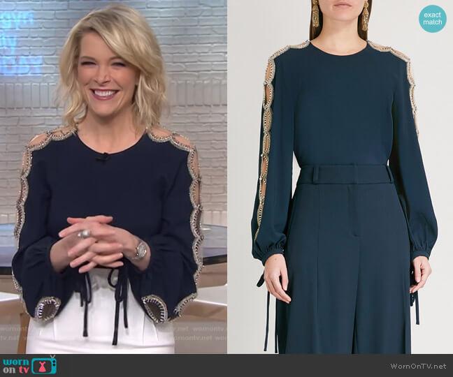 WornOnTV: Megyn\'s navy embellished top on Megyn Kelly Today   Megyn ...