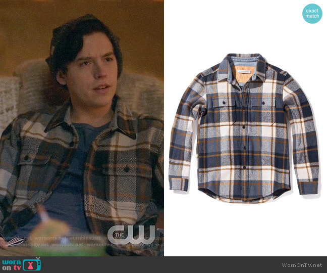 Outerknown Highland Blanket Shirt worn by Cole Sprouse on Riverdale